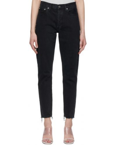 Klasyczne czarne jeansy bawełniane Agolde