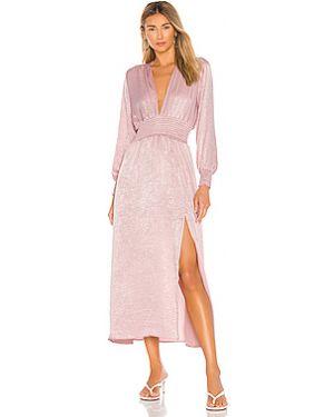 Платье с поясом с разрезом сатиновое Resa
