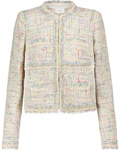 Хлопковая ватная белая куртка Giambattista Valli