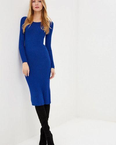 Платье осеннее синее By Swan