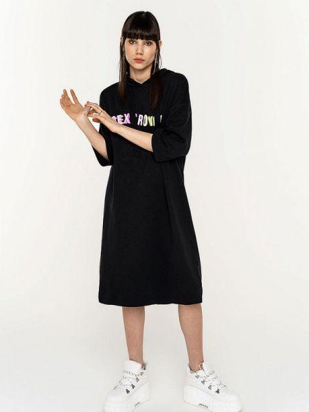 Платье платье-толстовка черное Befree