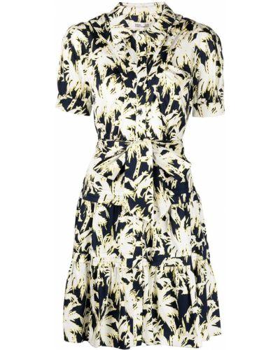 Biała sukienka z printem Dvf Diane Von Furstenberg