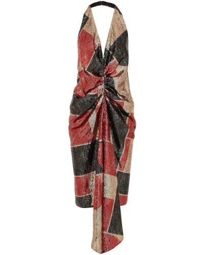 Sukienka midi z cekinami tiulowa Halpern