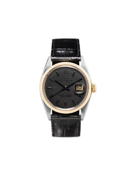 Кожаные черные часы Lizzie Mandler Fine Jewelry