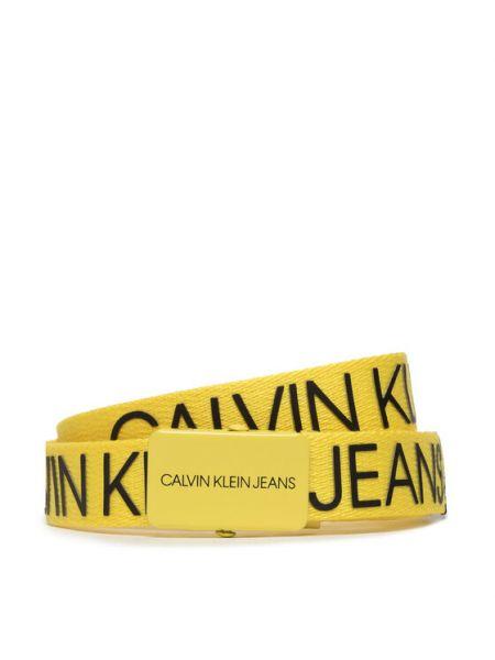 Pasek z paskiem - żółty Calvin Klein Jeans