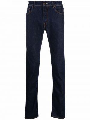 Niebieskie jeansy z paskiem Hand Picked