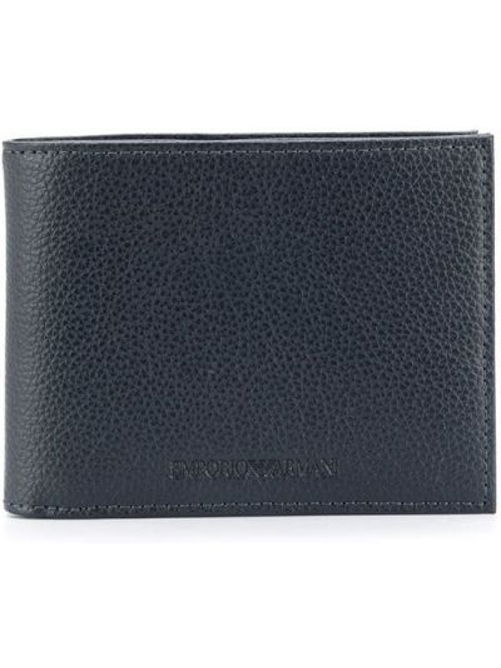Ciemnoniebieski portfel z gniazdem Emporio Armani