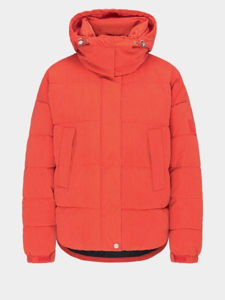Красная дутая куртка с капюшоном с воротником Lee