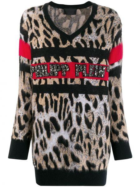 Топ леопардовый - черный Philipp Plein