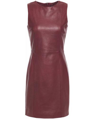 Кожаное красное платье мини с подкладкой Muubaa