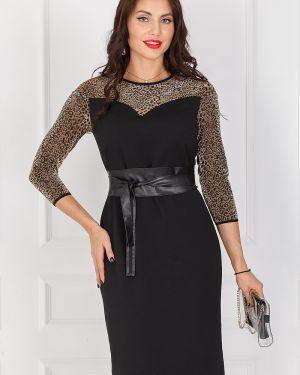 Платье с поясом леопардовое платье-сарафан Taiga