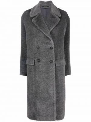 Серое пальто из альпаки Tagliatore