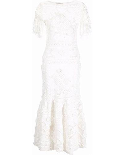 Шелковое платье миди - белое Zimmermann