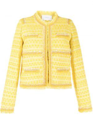 Желтый пиджак твидовый Giambattista Valli