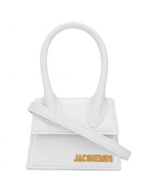 Золотистая кожаная белая маленькая сумка Jacquemus