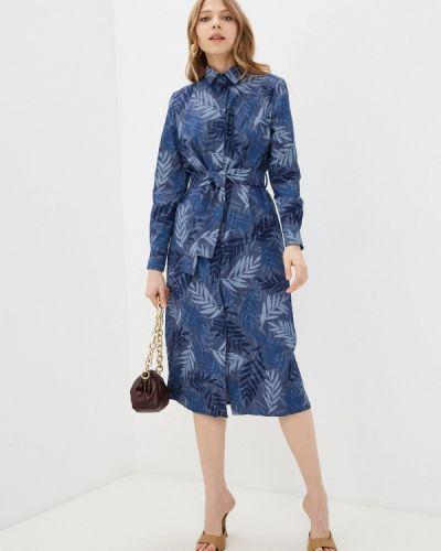 Синее платье-рубашка Krismarin