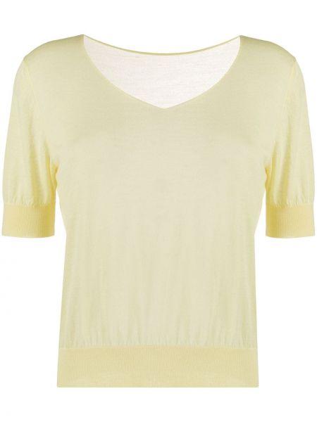 Koszula krótkie z krótkim rękawem żółty rozciągać Roberto Collina