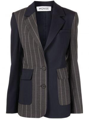 Czarna kurtka bawełniana z printem Monse