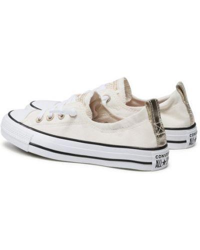 Beżowe slipy Converse
