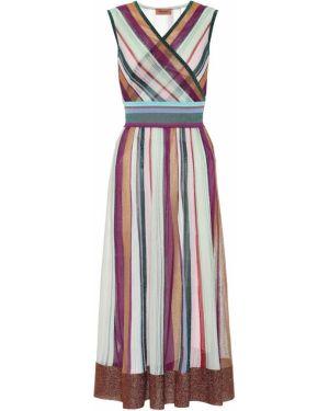 Платье макси в полоску вязаное Missoni