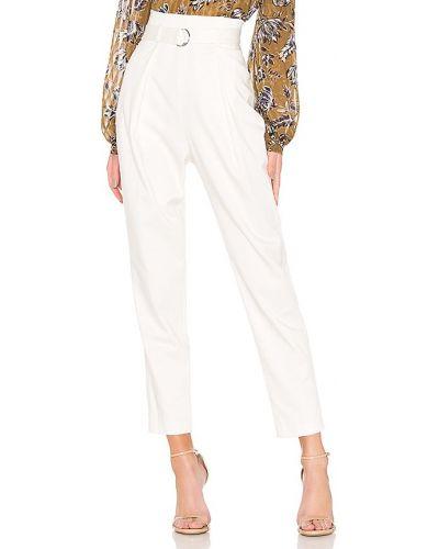 Białe spodnie z wysokim stanem Bcbgmaxazria