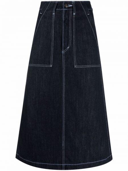 Джинсовая юбка миди - синяя SociÉtÉ Anonyme