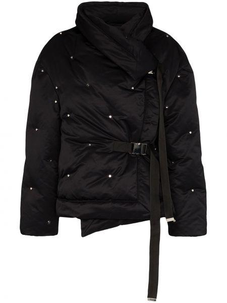 Czarna długa kurtka z długimi rękawami klamry Shoreditch Ski Club