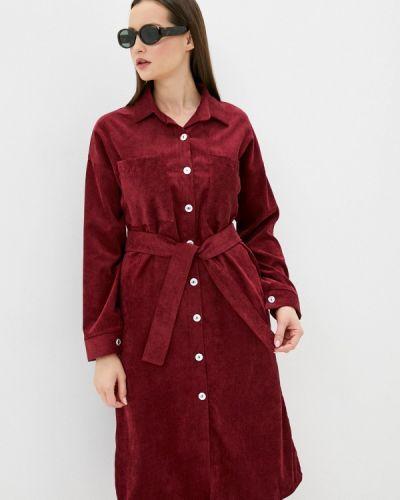 Красное платье-рубашка Pink Summer