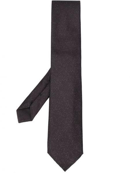 Шелковый черный галстук Tom Ford