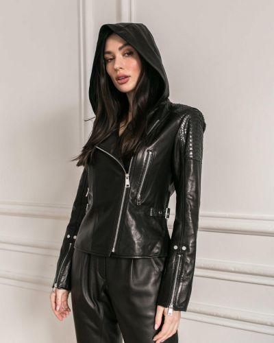 Кожаная куртка из кожи питона без бренда