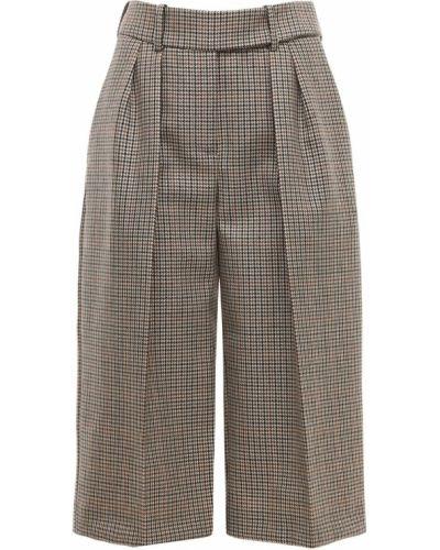 Шерстяные шорты с карманами на крючках Alexandre Vauthier