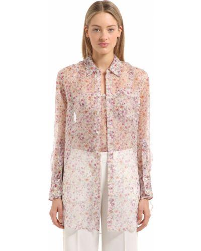 Блузка с воротником - розовая Calvin Klein Collection