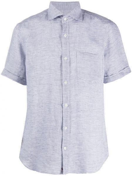 Koszula krótkie z krótkim rękawem klasyczna w paski Glanshirt
