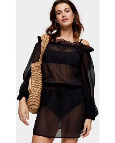 Пляжное черное пляжное платье Topshop