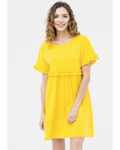 Желтое платье мини Mascot