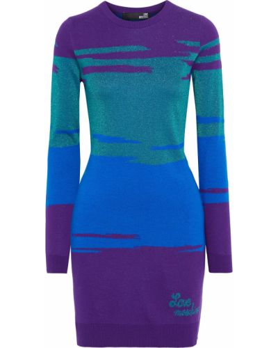 Шерстяное платье мини - фиолетовое Love Moschino