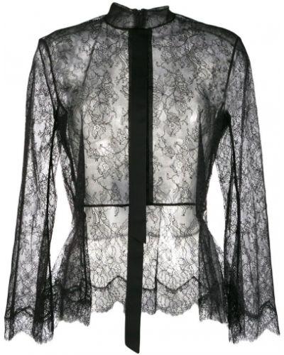 Блузка с длинным рукавом прозрачная Olivier Theyskens