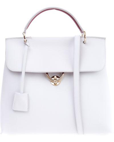 Кожаный сумка с ручками с отделениями Salvatore Ferragamo