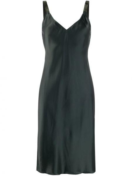 Платье миди платье-комбинация с V-образным вырезом Helmut Lang