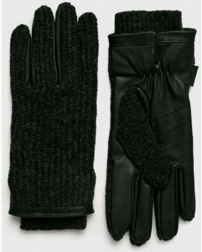 Кожаные перчатки шерстяные текстильные Barts
