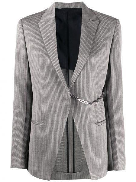 Шерстяной серый пиджак с карманами 1017 Alyx 9sm