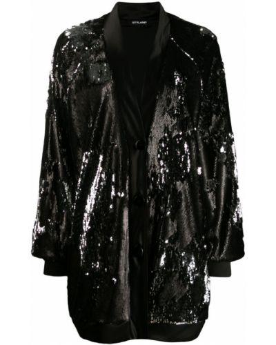 Черное пальто Styland