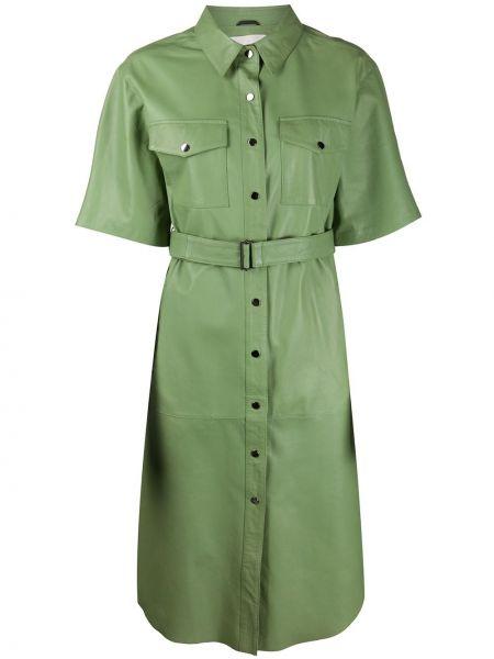 Платье мини на пуговицах с поясом Tela
