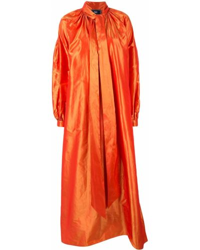 Коралловое длинное пальто Taller Marmo