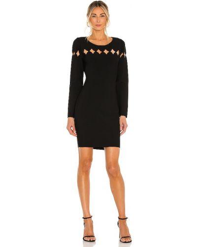 Czarna sukienka z wiskozy Milly