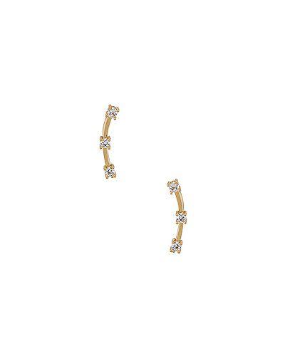Ползунки позолоченные металлические золотые Miranda Frye