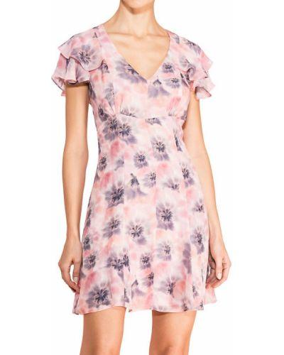 Розовое шелковое платье Parker