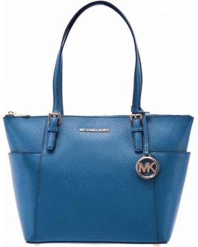 Кожаная сумка шоппер большая Michael Michael Kors