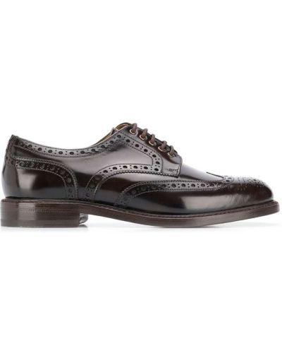 Оксфорды коричневый круглый Berwick Shoes