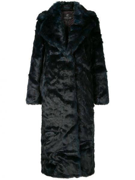 Акриловое длинное пальто с капюшоном Unreal Fur